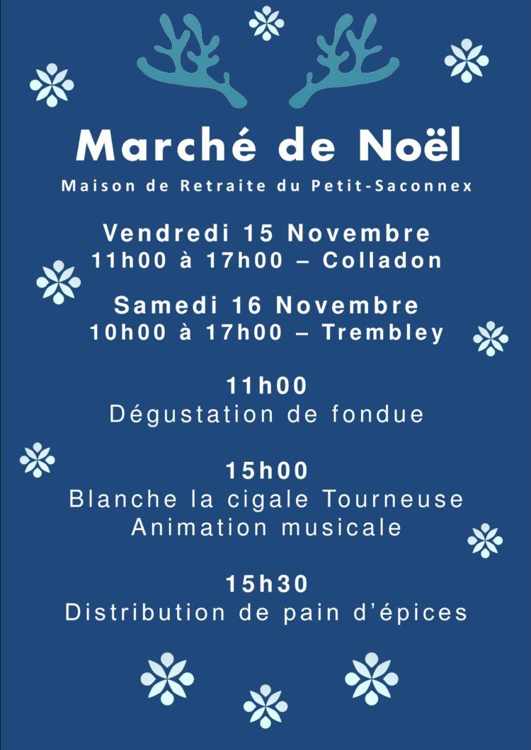 Affiche du marché de Noël de la Maison de Retraite du Petit-Saconnex