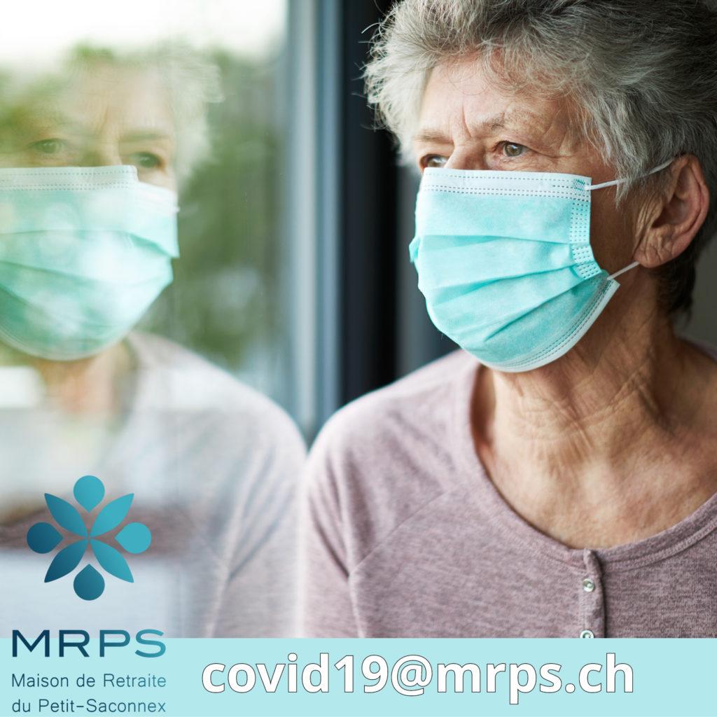 Adresse mail pour toutes les informations sur le Coronavirus à la Maison de retraite du Petit-Saconnex Genéve Résidence et EMS